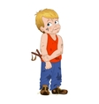 cunning little bully boy Boy vector image