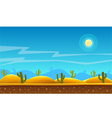 Desert cartoon background vector image