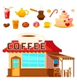 Dessert Coffeeshop Infographic Composition vector image vector image