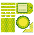 Easter set of green design elements vector image vector image