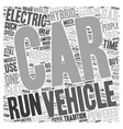 electric hybrid vehicles 1 text background vector image vector image