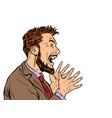 emotional man screaming vector image vector image