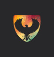 falcon logo design vector image vector image