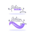 fashion boutique and store logo label emblem vector image vector image