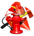 fire prevention equipment concept with hydrant vector image