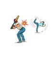 game baseball the pitcher throws ball vector image vector image