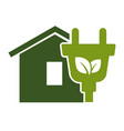 green home eco energy symbol ecology and vector image