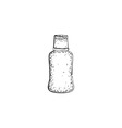 Hand drawn bottle vector image vector image
