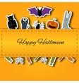 Happy Halloween background Flat vector image