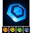 Hexagonal vibrant emblems vector image vector image