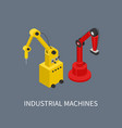 industrial machines using for smart production vector image vector image