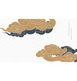 japanese background with chinese cloud decoration vector image vector image