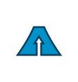 letter a up arrow logo icon design concept vector image vector image