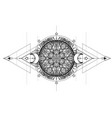 lotus eye sacred geometry ayurveda symbol of vector image vector image