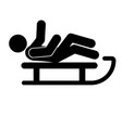 luge glyph icon vector image