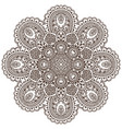 mandalapattern henna floral elements vector image