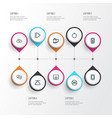 media outline icons set collection of chatting vector image vector image