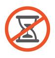 no hourglass symbol design forbidden vector image