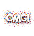 Omg sign vector image vector image
