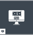 on pay related glyph icon vector image