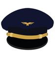Pilot cap with badge vector image vector image