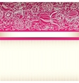 Pink ornamental card vector image vector image