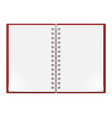realistic notebook on white background for vector image vector image