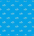 river fish pattern seamless blue vector image vector image