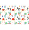 seamless pattern with egyptian symbols - camel vector image vector image