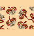 seamless pattern with floral fantasy batik motif vector image vector image