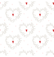 seamless pattern with hearts and wreathes vector image vector image