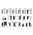 self help metaphor in stick figure pictograph vector image