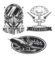 set aviation emblems labels badges logos vector image vector image