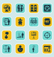 set of 16 administration icons includes special vector image vector image