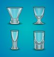 set of stemware-2 vector image