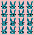 smart bunny pattern vector image vector image