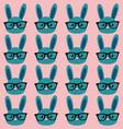 smart bunny pattern vector image vector image