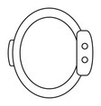 smart wristband icon outline style vector image vector image