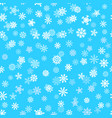 snowflall seamless pattern background vector image vector image