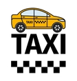 Taxicab transport advertising poster vector image vector image