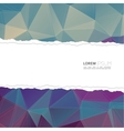 Torn paper with triangles and polygon mesh vector image vector image