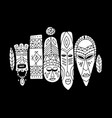 tribal mask ethnic set sketch for your design vector image