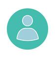 user account circle glyph color icon vector image vector image