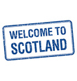 welcome to Scotland blue grunge square stamp vector image vector image