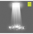 white spotlight light effect on transparent vector image vector image