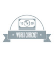 world currency logo simple gray style vector image
