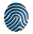 3D drawing fingerprint symbol vector image