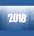 new year 2018 background vector image