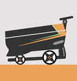 shopping car web icon colors lines vector image