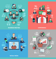 business meeting design concept vector image